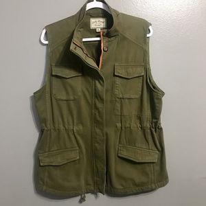 Lucky Brand Army Green Utility Vest